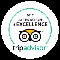 Guadeloupe Plongée Évasion Attestation d'excellence Tripadvisor 2017